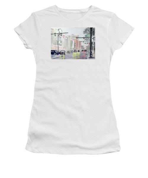 S. Main Street In Ann Arbor Michigan Women's T-Shirt (Athletic Fit)