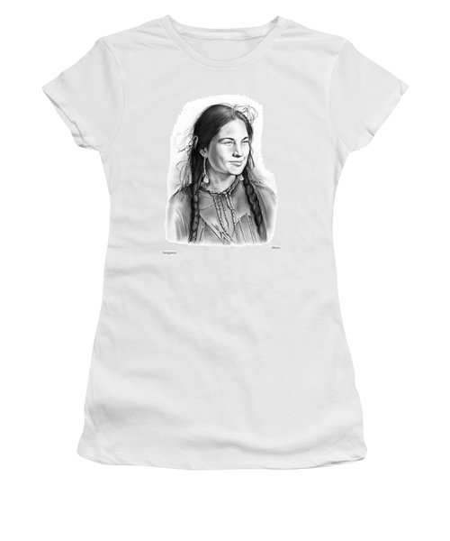 Sacagawea Women's T-Shirt (Athletic Fit)
