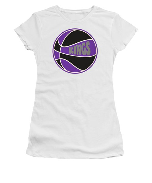 Women's T-Shirt (Junior Cut) featuring the photograph Sacramento Kings Retro Shirt by Joe Hamilton