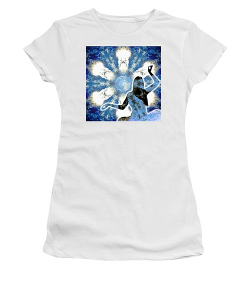 Women's T-Shirt (Athletic Fit) featuring the digital art Sacred Feminine Eclipse by Derek Gedney