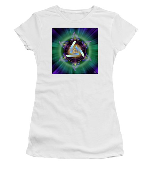 Women's T-Shirt (Athletic Fit) featuring the digital art Sacred Geometry 713 by Endre Balogh
