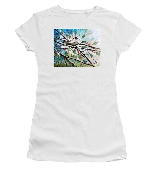 Sage Glimmering Songbird  Women's T-Shirt