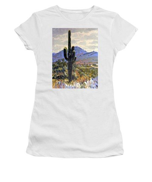 Saguaro Women's T-Shirt (Junior Cut) by Donald Maier