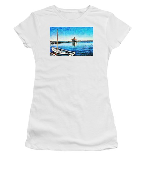 Women's T-Shirt featuring the painting Sail Away by Joan Reese