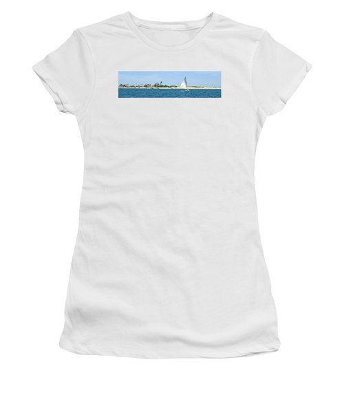 Sailing Around Barnstable Harbor Women's T-Shirt (Athletic Fit)