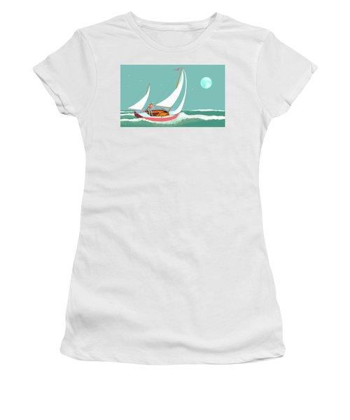 Moonlight Sail Women's T-Shirt