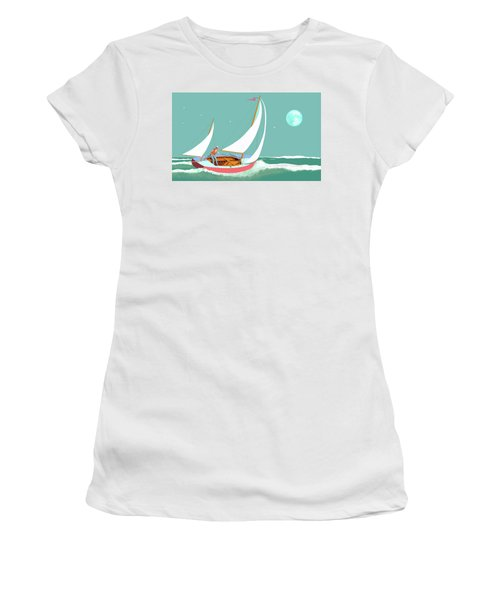 Moonlight Sail Women's T-Shirt