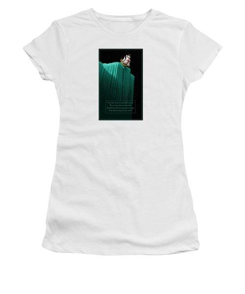 Sailing Off The Edge Of The World Women's T-Shirt (Junior Cut) by Scott Ross