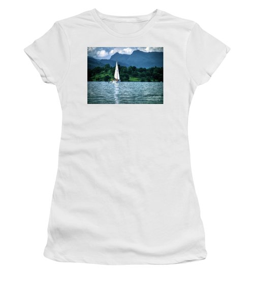 Sailing The Lakes Women's T-Shirt (Athletic Fit)