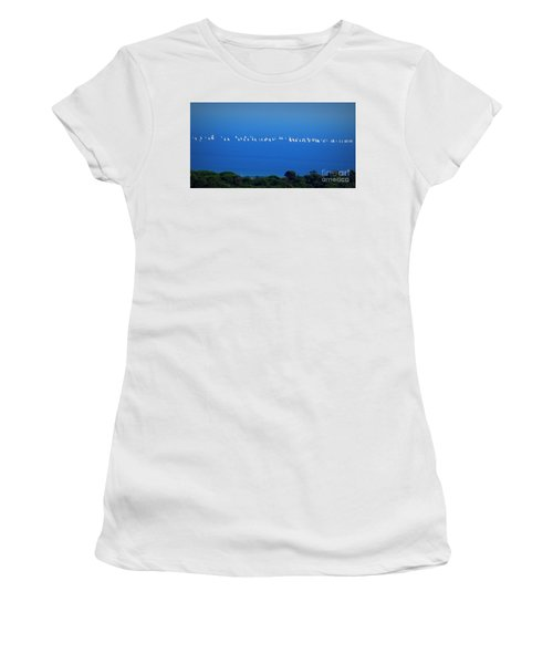 Sailing The Sea And Sky Women's T-Shirt (Athletic Fit)