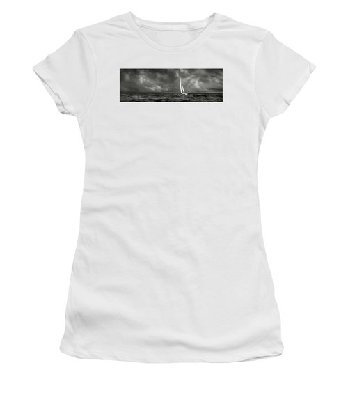 Sailing The Wine Dark Sea In Black And White Women's T-Shirt