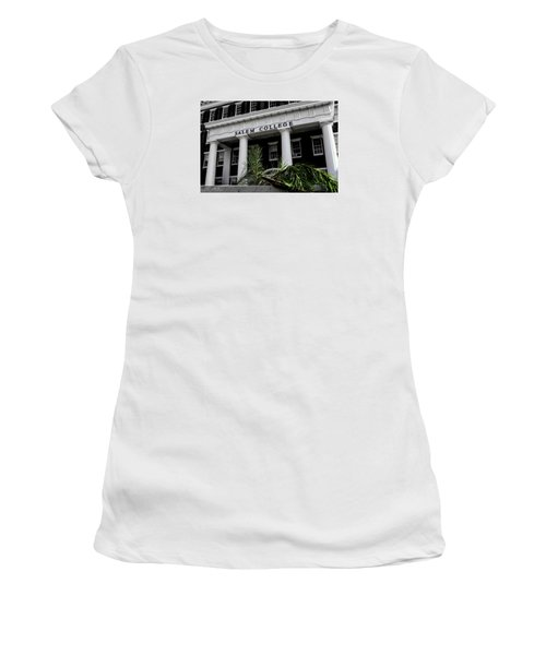 Women's T-Shirt (Junior Cut) featuring the photograph Salem College by Jessica Brawley