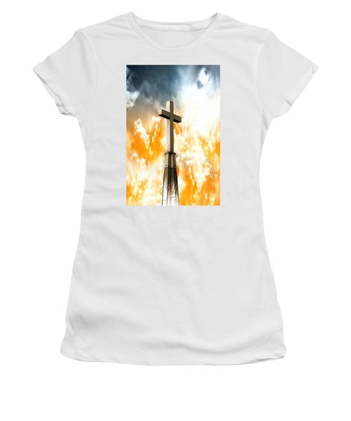 Women's T-Shirt (Athletic Fit) featuring the photograph Salvation  by Aaron Berg