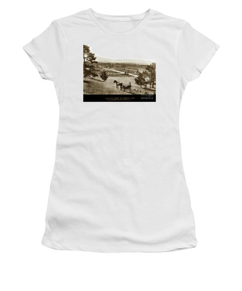 Samuel J. Duckworth Pauses To Look Upon What Would Become Carmel 1890 Women's T-Shirt