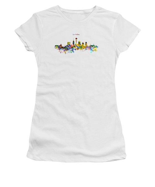 San Antonio Skyline Silhouette Women's T-Shirt