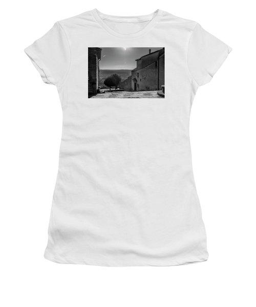 San Francesco Monastery - Fiesole, Italia. Women's T-Shirt (Junior Cut) by Sonny Marcyan