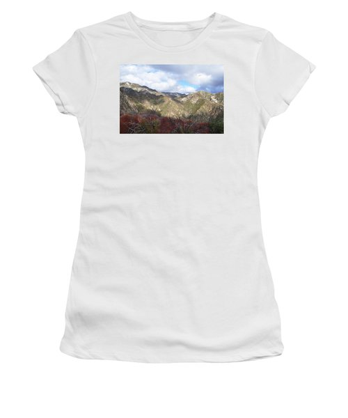 San Gabriel Mountains National Monument Women's T-Shirt (Junior Cut) by Kyle Hanson
