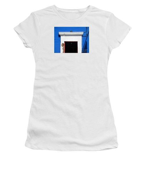 San Jose Del Cabo Door 5 Women's T-Shirt (Junior Cut) by Randall Weidner