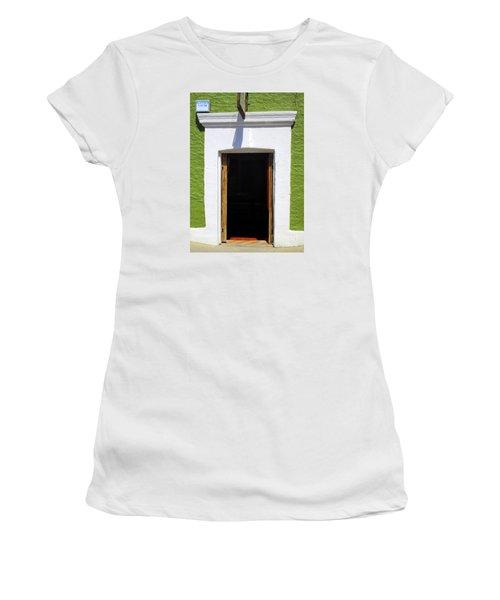 San Jose Del Cabo Door 7 Women's T-Shirt (Junior Cut) by Randall Weidner