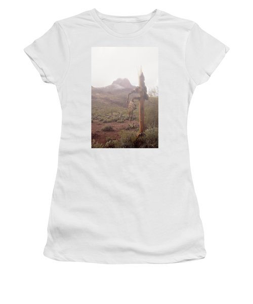 Sancuatary Cove Fog Women's T-Shirt (Junior Cut) by Donna Greene