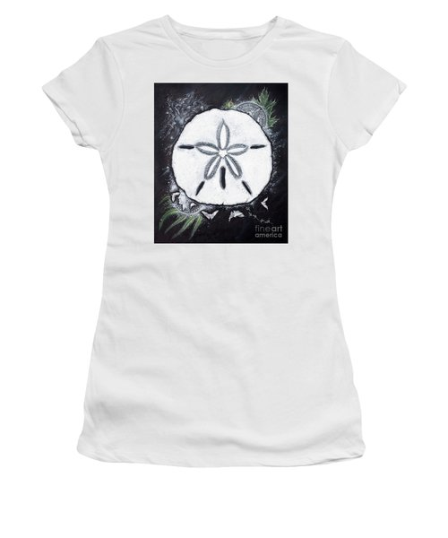 Sand Dollars Women's T-Shirt (Junior Cut) by Scott and Dixie Wiley