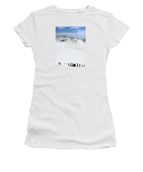 Women's T-Shirt (Junior Cut) featuring the photograph Sand Dunes Dream 2 by Marie Hicks