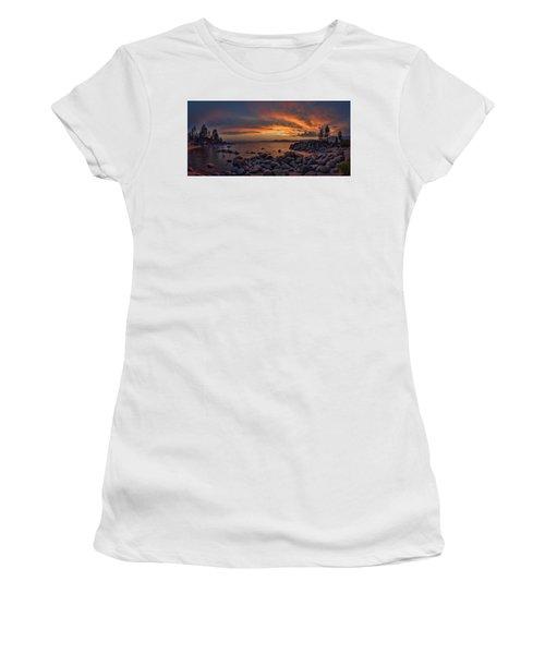 Sand Harbor Sunset Panorama Women's T-Shirt