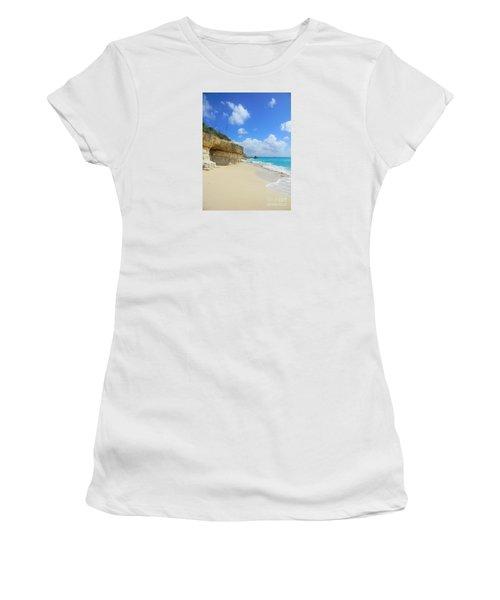 Sand Sea And Sky Women's T-Shirt (Junior Cut) by Expressionistart studio Priscilla Batzell