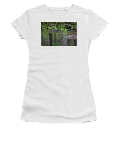 Sandpiper In The Smokies II Women's T-Shirt (Junior Cut) by Douglas Stucky