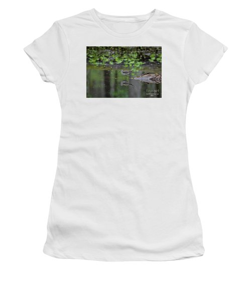 Women's T-Shirt (Athletic Fit) featuring the photograph Sandpiper In The Smokies II by Douglas Stucky