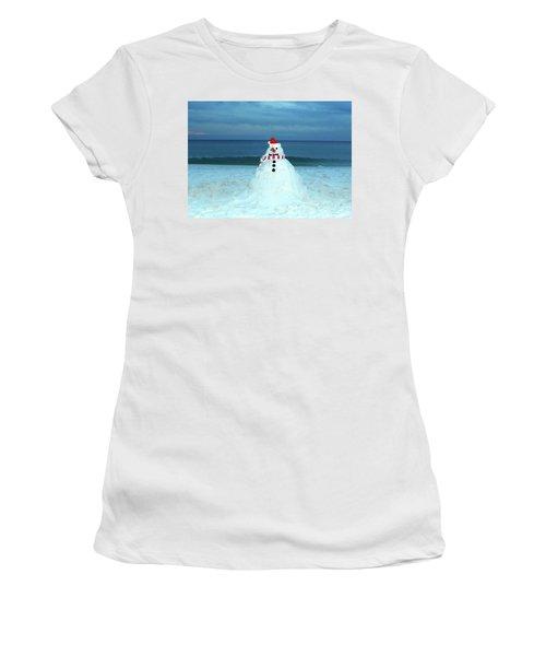 Sandy The Snowman Women's T-Shirt (Athletic Fit)