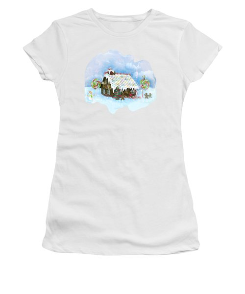 Santa Loves Cookies Women's T-Shirt (Junior Cut) by Methune Hively