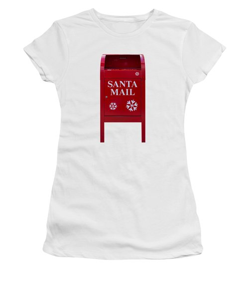 Santa Red Mail Box Women's T-Shirt (Athletic Fit)