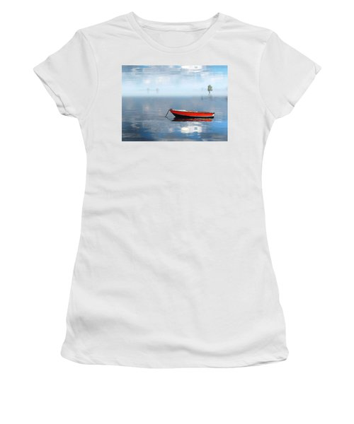 Women's T-Shirt (Junior Cut) featuring the photograph Santee Lakes Serenity by Deborah Smith