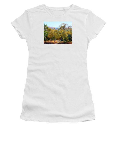 Santiago Creek Trail Women's T-Shirt (Junior Cut) by Timothy Bulone