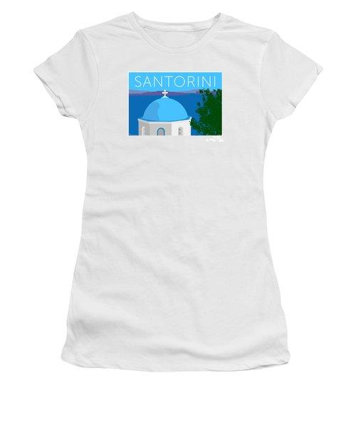 Santorini Dome - Blue Women's T-Shirt