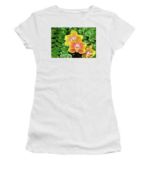 Sara Gold Orchids 003 Women's T-Shirt (Junior Cut) by George Bostian