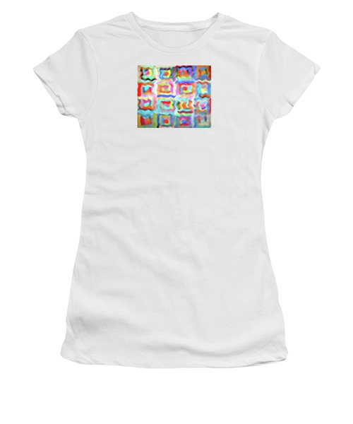 Women's T-Shirt (Junior Cut) featuring the photograph Saturday Quilting Muse by Gwyn Newcombe