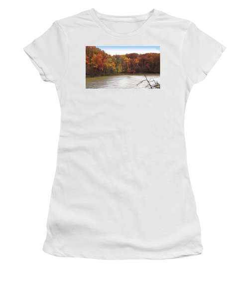 Sauk Lake Autumn Women's T-Shirt (Athletic Fit)
