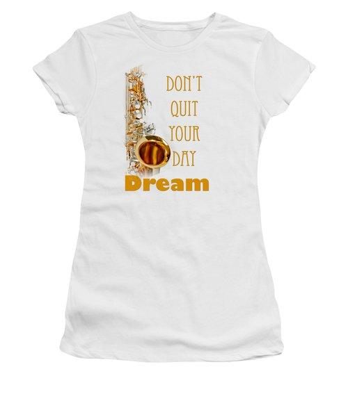 Saxophone Fine Art Photographs Art Prints 5019.02 Women's T-Shirt (Junior Cut) by M K  Miller