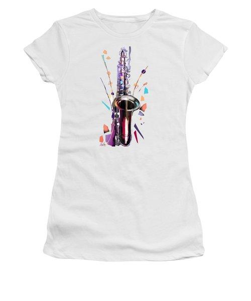 Saxophone Women's T-Shirt (Athletic Fit)