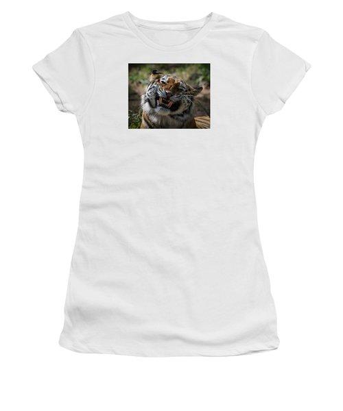 Say Cheese Women's T-Shirt (Junior Cut) by Ernie Echols