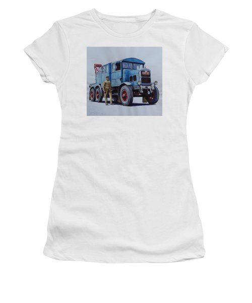 Scammell Wrecker. Women's T-Shirt (Junior Cut) by Mike Jeffries