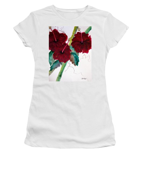 Scarlet Red Women's T-Shirt (Junior Cut) by Lil Taylor
