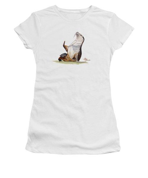 Sea Lion Watercolor II Women's T-Shirt