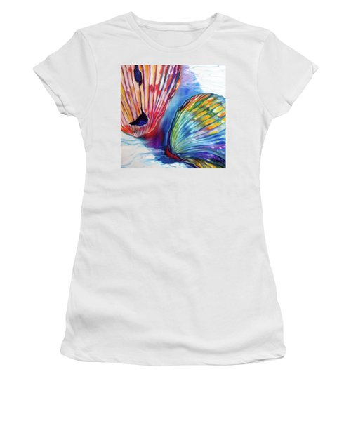 Sea Shell Abstract II Women's T-Shirt (Athletic Fit)