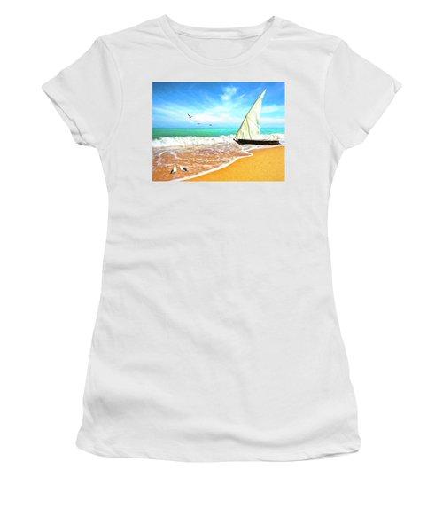 Sea Shore Women's T-Shirt (Junior Cut)