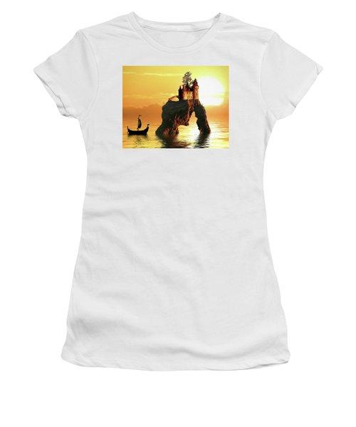 Sea Stack Castle Women's T-Shirt (Athletic Fit)