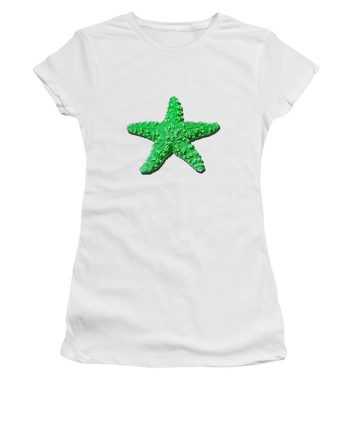 Sea Star Green .png Women's T-Shirt (Athletic Fit)