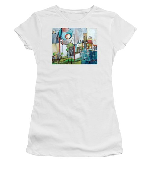 Sea Town Women's T-Shirt (Athletic Fit)